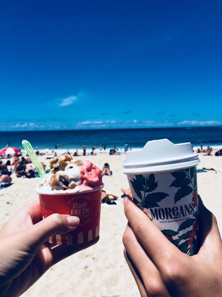 ice cream n coffee
